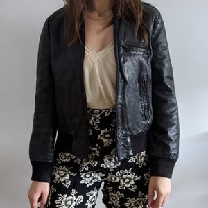 Vintage 1980's Leather Bomber